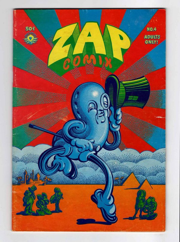 Zap Comix 4 (2nd Printing)—Front Cover