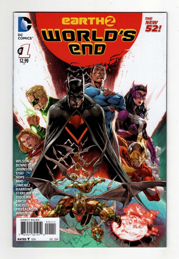 Earth-2: World's End 1—Front Cover