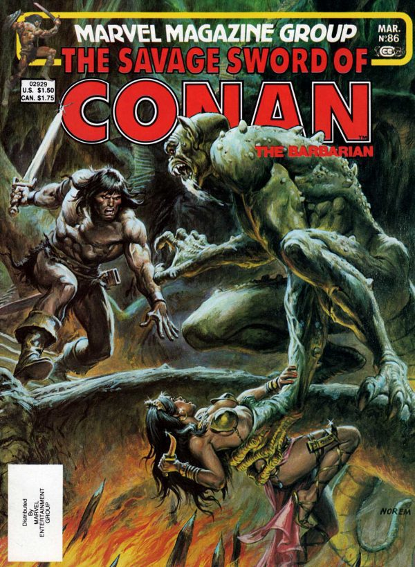 The Savage Sword of Conan 86—Front Cover
