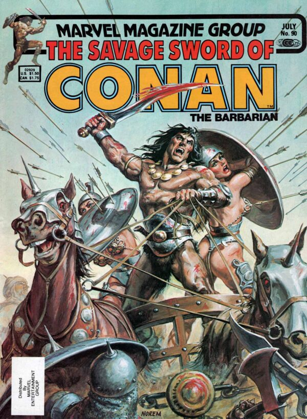 The Savage Sword of Conan 90—Front Cover