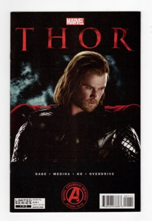 Thor Movie Adaptation 1—Front Cover   Darcy Lewis comics