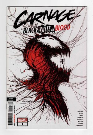 Carnage Black White and Blood 2—Front Cover | Venom Carnage Comic | Venom Let There Be Carnage 2021