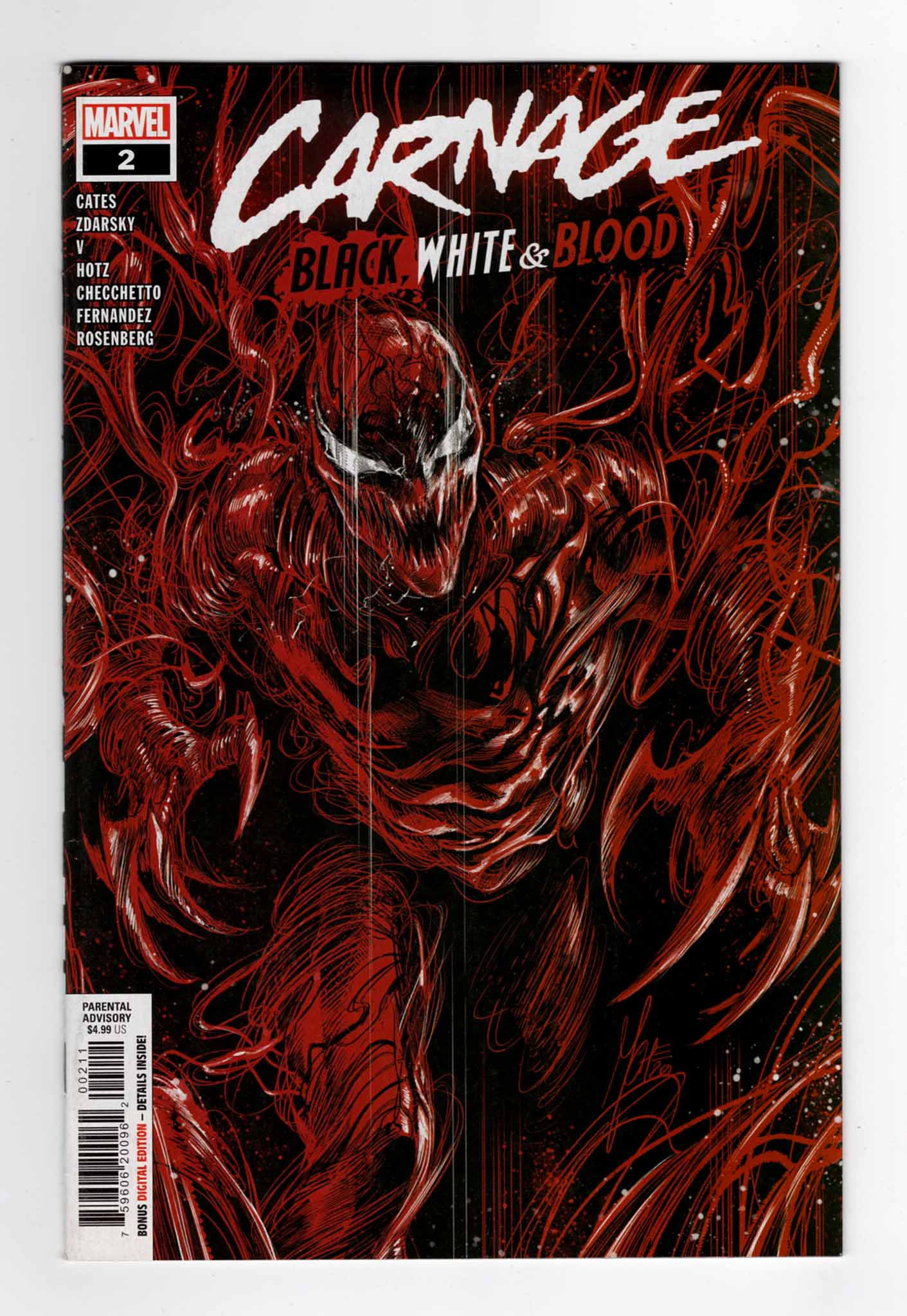 Carnage Black White and Blood 1—Front Cover | Venom Carnage Comic | Venom Let There Be Carnage